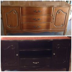 $5 thrift store find converts to TV console.