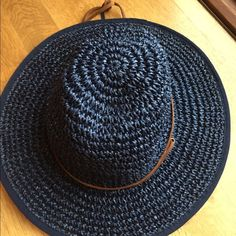 Floppy sun hat Adorable, never worn, straw and adjustable sun hat. Accessories Hats