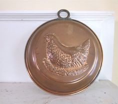 Vintage Copper Mold  Chicken  Jello Pudding Aspic by fishlegs, $25.00