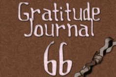 Gratitude Challenge Revisited Day 66 - News - Bubblews