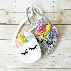 Crochet Unicorn Purse Girl's Accessory Toddler Child Handmade Crochet Unicorn Purse Girl's Accessory Toddler Child Handmade Purse Patterns Free, Crochet Purse Patterns, Crochet Shell Stitch, Crochet Hook Set, Crochet Unicorn, Crochet Baby, Crochet Headbands, Crochet Toys, Free Crochet