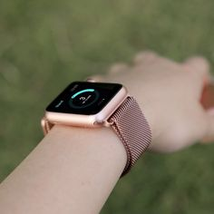 Amazon.com: BRG Apple Watch Band, 38mm Milanese Loop Stainless Steel Bracelet Strap Replacement Wrist iWatch Band with Magnet Lock for Apple Watch – Original Rose Gold: Cell Phones & Accessories