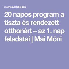 20 napos program a tiszta és rendezett otthonért – az 1. nap feladatai   Mai Móni Monet, Cleaning Hacks, Techno, Storage, Organizing, Jeans, House, Purse Storage, Home