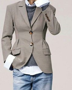 new ideas for how to wear blazer with jeans casual jackets Style Work, Mode Style, Style Me, Style Casual, Casual Man, Classic Style, Office Style, Smart Casual, Fashion Mode