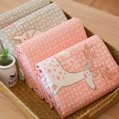 40*50CM Zoo Deer Rabbit Fox Cat  Sheep Twill Printed Cotton Fabric DIY Patchwork…