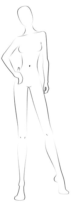 How To Draw Female Superheroes Female character template - blank fashion design templates