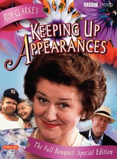 Keeping Up Appearances - BBC TV series - stars Patricia Routledge, Clive Swift.I love this old comedy from the BBC! Bbc Tv Shows, Bbc Tv Series, Movies And Tv Shows, British Tv Comedies, British Comedy, British Actors, Keeping Up Appearances, British Humor, Old Shows