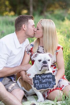 """""""My humans are getting married"""" dog Bidwell Park engagement Chico California Engagement Photographer"""