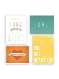 Love Collection Print Set Set of 4 by Children Inspire