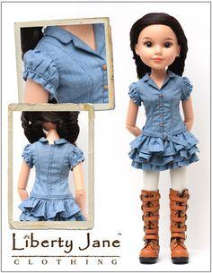 Faraway Downs Dress for BFC, Ink. Dolls