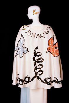 Yves Saint Laurent, Embroidered white gazar cape and white crepe dress, Spring/Summer 1988