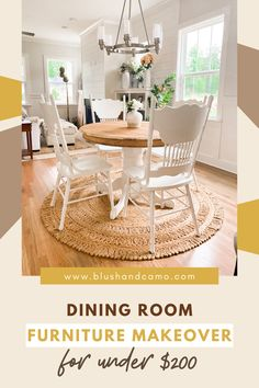 An awesome dining room furniture DIY makeover for under $200. Spice up your home decor with this awesome furniture project #homedecor #diningroom #furnituremakeover #homedecorpoject #DIYhomedecor