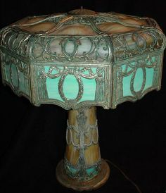 Slag Glass Lamps for Sale | Prices do not include the 10% buyers premium.