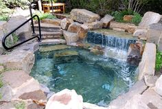 Welcome to the River Club Telluride - All natural stone hot tub
