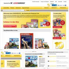 Internetseite Aboshop Deutsche Post Leserservice / Leistungen: Konzeption, GUI-Design, Technische Umsetzung / Techniken: Zend Server, PHP, Zend Framework, MySQL, Javascript, mootools, XHTML, CSS, PDFlib, SOAP, REST