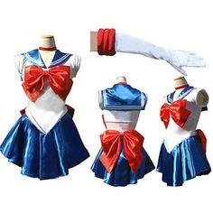 Sailor Moon Blue and White Spandex marinero uniforme (2 Piezas) – EUR € 17.32