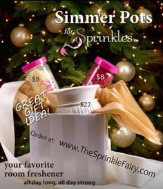 Pink Zebra, #perfectgift box! Gifts under $40  Includes Simmer Pot and 2 jas of Sprinkles- your choice of scents.
