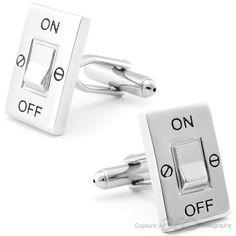 Light Switch Cufflinks, Fine Men's Jewelry from Cufflinksman