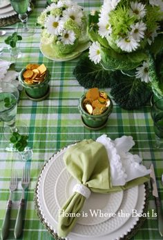 home is where the boat is - a perfect st. patrick's table