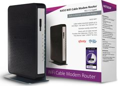 Amazon.com: NETGEAR N450 WiFi DOCSIS 3.0 Cable Modem Router (N450-100NAS): Computers & Accessories