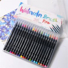 size Tinta negra Dibujo Fineliner Art Marker Pen Pigment Liner A base de agua