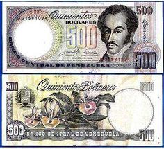 Una Orquidea...Billete de quinientos Bolivares,Venezuela.