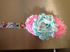 Frozen Inspired headband Check out this item in my Etsy shop https://www.etsy.com/listing/206802061/frozen-chevron-princess-headband