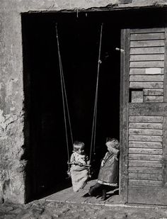 The Swing, Esztergom, Hungary, 1916, Andre Kertesz. Hungarian Photographer (1894 - 1985)