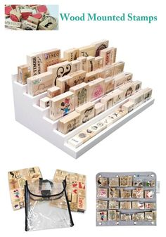 Are you at a loss as to how you should organize your wood mounted stamps? Then check out our ''Stamp Storage'' page, where we teach you how to organize all different types wood mounted stamps. #woodstamps #stamper #stampstorage #woodmountedstamps #stamping #craftroomstorage #craftroomideas #craftorganizer #craftsupplyorganizer #stamps