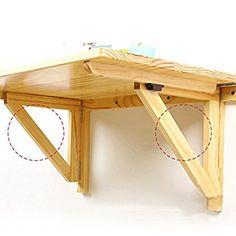 Pallet Furniture Shelves, Home Decor Furniture, Diy Home Decor, Diy Projects Plans, Wood Projects, Garage Workbench Plans, Handmade Desks, Folding Desk, Foldable Table