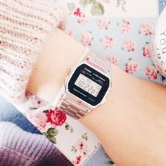 Casio watches are such a cute way to add an 80's touch to an outfit, and the rose gold gives it a modern twist!