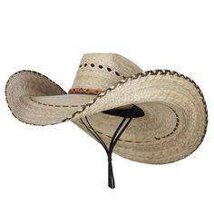7b3d538bb5a Mexican Style Wide Brim Straw Hat - Natural - CL12FV92YGJ - Hats  amp  Caps