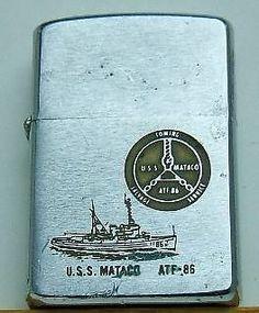 Vintage Vietnam Zippo Lighters | Vintage 1968 Zippo SHIP Lighter USS Mataco Vietnam Era ATF 86 | eBay