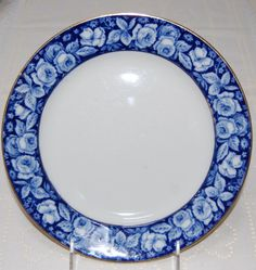 Hey, I found this really awesome Etsy listing at https://www.etsy.com/listing/209053679/vintage-flow-blue-plate-beauty-roses-w-h
