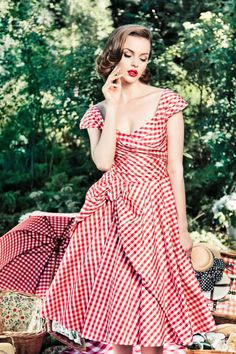 Red gingham dress by Lena Hoschek