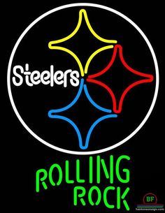 Rolling Rock Pittsburgh Steelers Neon Sign NFL Teams Neon Light