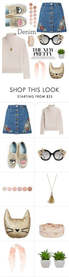 """I'm hella obsessed with your face"" by madpaudisease ❤ liked on Polyvore featuring Miss Selfridge, Vanessa Seward, Chiara Ferragni, Alice + Olivia, Deborah Lippmann, Jennifer Lopez, PBteen, Tory Burch and Chan Luu"