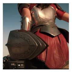 Lady Sif's armor from the back.