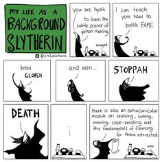 Web Comic Dump Electric Boogaloo (My Life As A Background Slytherin) - Funny Quotes Harry Potter Comics, Harry Potter Jokes, Harry Potter Fandom, Harry Potter World, Drarry, Severus Snape, Draco Malfoy, Background Slytherin, Harry Porter