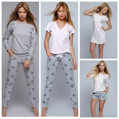 Summer Pajamas, Cute Pajamas, Girls Pajamas, Pajamas Women, Pyjamas, How To Dress A Bed, Lazy Day Outfits, Victoria Secret Pajamas, Lingerie Outfits