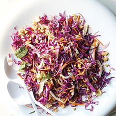 Sublime Summer Salads - Poached Chicken with Shredded Cabbage and Carrots