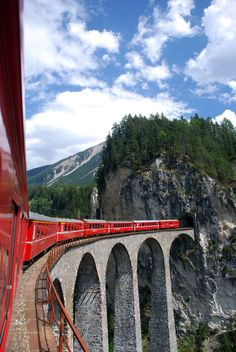 Glacier express route, Switzerland