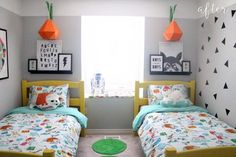 Ok, Cool. Now I'm Jealous Of These Toddlers (Seriously, Their Room is So Cool). Ok, Cool. Now I'm Jealous Of These Toddlers (Seriously, Their Room is So Cool). Shared Boys Rooms, Boy And Girl Shared Bedroom, Shared Bedrooms, Girls Bedroom, Bedroom Decor, Kids Rooms, 6 Year Old Boy Bedroom, Unisex Bedroom Kids, Bedroom Ideas