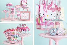 A fun Hello Kitty favor shop for a birthday party.