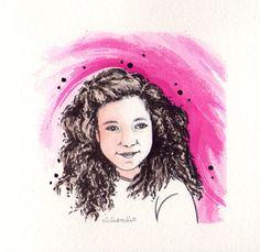 """MI PEQUEÑA AMIGA CELIA pequeña amiga se llama Celia,  nombre de origen latino,  que significa """"natural de una de las colinas de Roma""""   Un día me dijo,  con su carita sonriente y sincera, que le había gustado mucho uno de mis dibujos  y la verdad,  me alegró el día.  Por eso quiero dedicarle esta  HISTORIA PINTADA  y felicitarla,  ya que hoy cumple 9 años."""