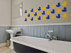 Rubber Duck Tiles Wall Stickers by The Binary Box