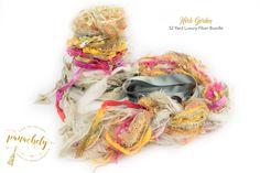 Herb Garden Fiber Art Yarn. 32 Yard Novelty Yarn, Ribbon and Art Fiber Bundle. by Panachely on Etsy