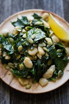 // collard greens and butter beans