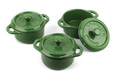 Staub Mini Round Cocotte, Set of 3, Basil, 0.25 qt. - Basil *** Trust me, this is great! Click the image. : Dutch Ovens