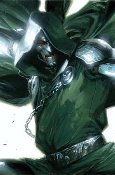 Vengeance Doctor Doom cover by Gabriele Dell'Otto Marvel Comic Character, Marvel Comic Books, Comic Book Characters, Comic Book Heroes, Marvel Characters, Comic Books Art, Comic Art, Book Art, Epic Characters